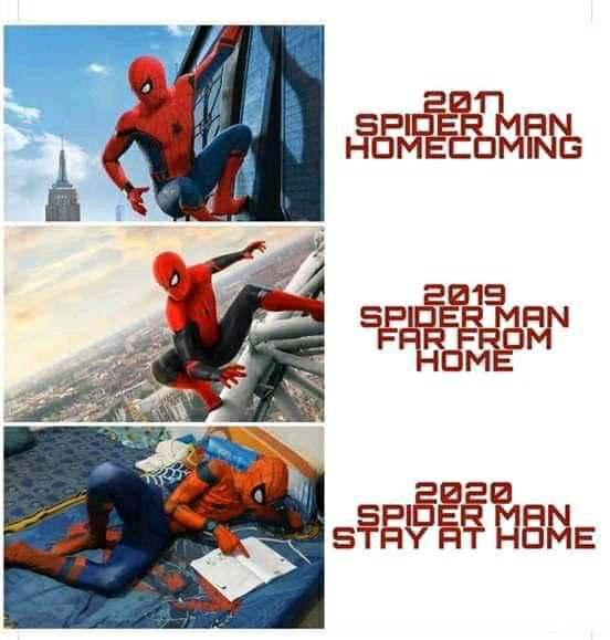 2020 spider man stay at home