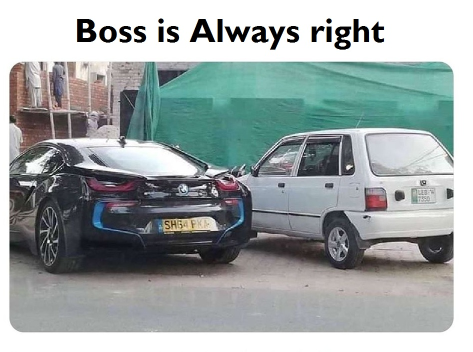 Boss is always right