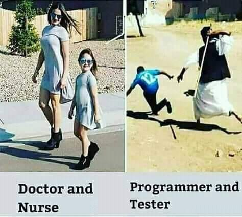 Doctor and Nurse vs Programmer and Tester