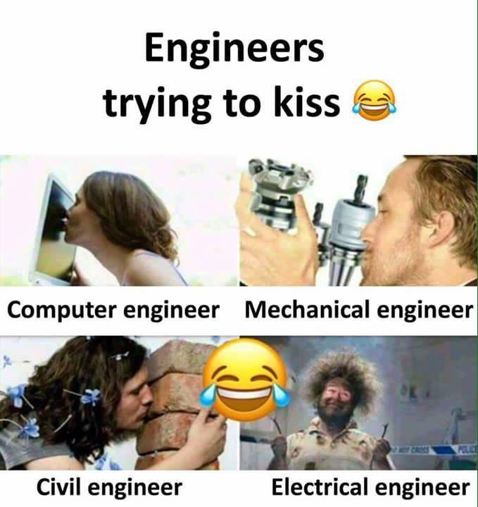 Engineers Trying To Kiss