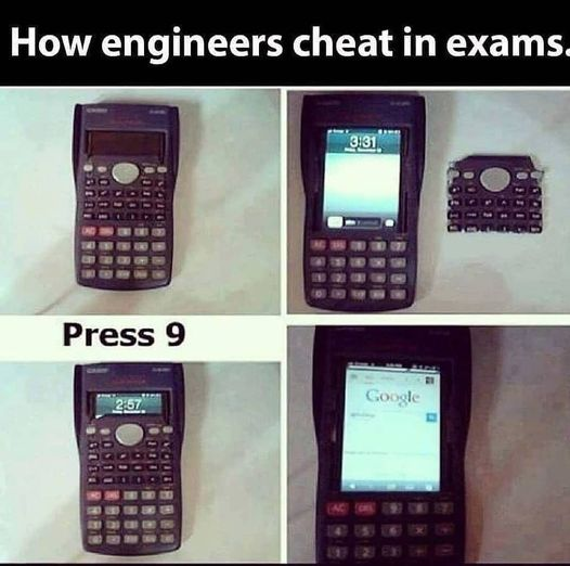 How engineers cheat in exams