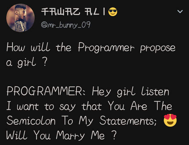 How will the programmer propose a girl?