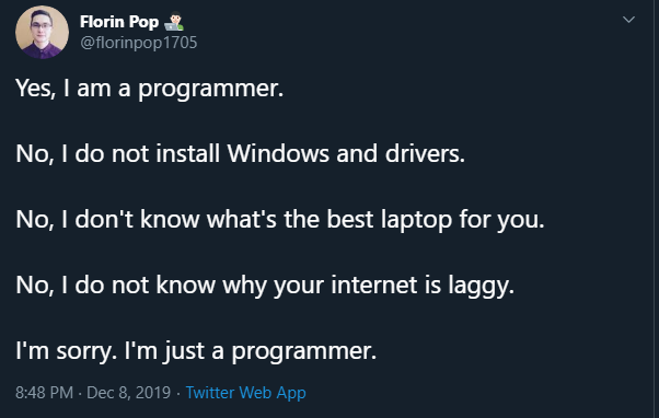 I'm sorry. I'm just a programmer