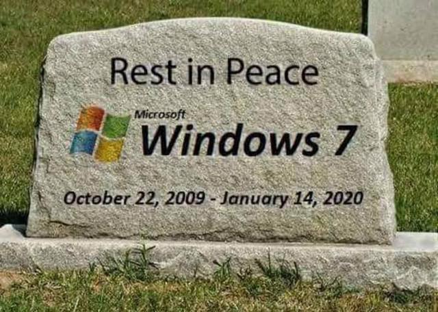 Microsoft will stop giving support to windows 7