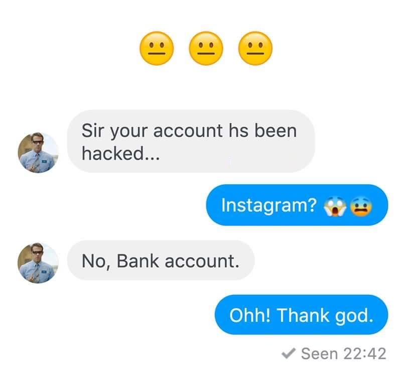 Sir your account hs been hacked...