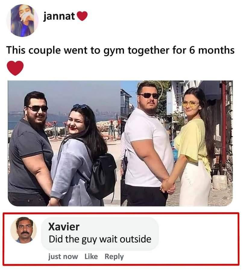 This couple went to gym together for 6 months