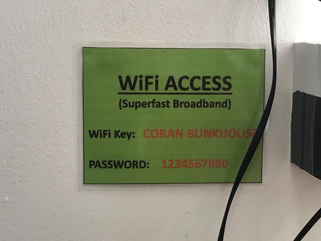 This is how users set their wifi password